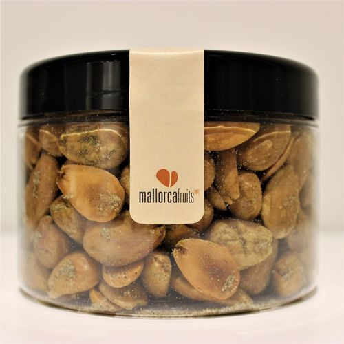 Fried almonds with Mediterranean herbs. 275g PET