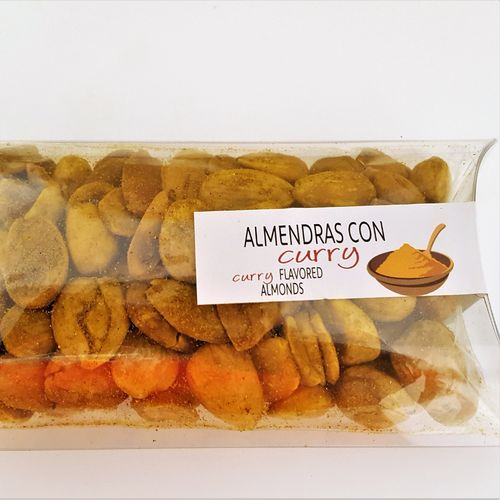 Fried almonds with curry. 100g snack