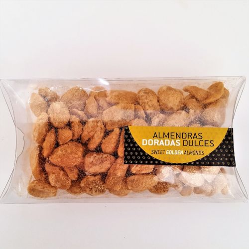 Sweet golden almonds. 100g snack