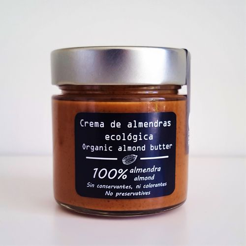 Organic almond butter. 200g glass